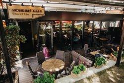 outdoor terrace in the restaurant