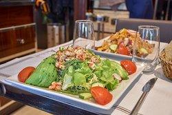 salade - avocat / crevettes - restaurant - Le Malakoff - Trocadéro