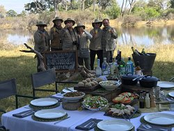 Birthday celebration in the bush