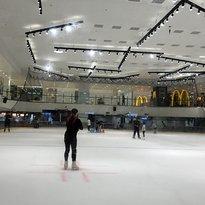 Blue Ice Skating Rink