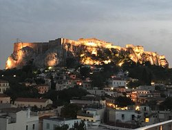 Acropolis view from roof top