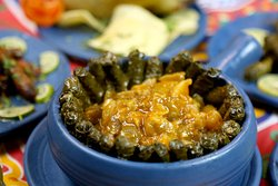 Grape Leaves with Kaware (Cow's trotters)