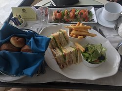 Delicious room service lunch.