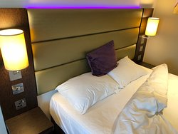 Bed and sideboards, sockets on each side