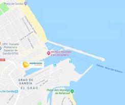 ubicación del catamaran mundo marino en gandia