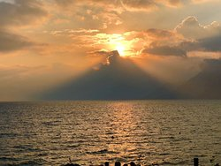 Sunset in Panajachel / Atardecer en Panajachel