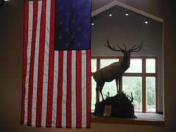 One of the many displays inside the interpretive center.