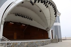 The hatch shell open theater in the center hosts a variety of events throughout the summer.