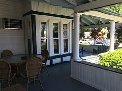View from White Birch room. Room is at the end of the porch.