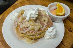 Pearl's signature colada pancakes