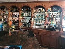 A very good looking bar with almost every drink