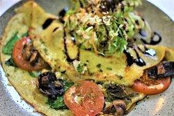 Homemade Vegetarian Savoury Crepes (vegetarian)