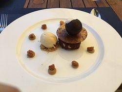 Belgian triple chocolate brownie