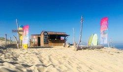 Notre cabane à la plage de L'agréou située au Penon sur la commune de Seignosse.