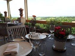 terrasse vue sur la campagne lauragaise