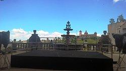 ヴィテルボの眺望と噴水