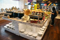 Excellent spread of breakfast buffet