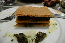 Escargot appetizer