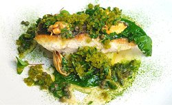 Sustainably farmed fillet of sea bass