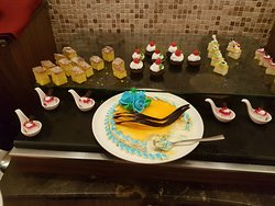 The desserts. Wide view