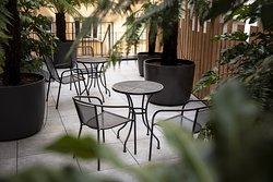 Terrace and tables