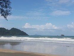 Cool white sand beach