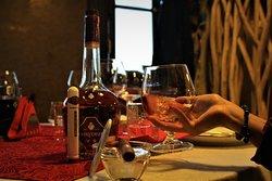 Drinking Wine in Pata Negra