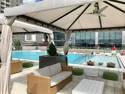 Outdoor pool on 7th floor