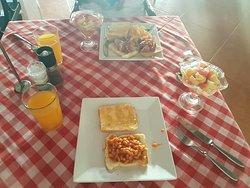 Free breakfast every morning. It was lovely.
