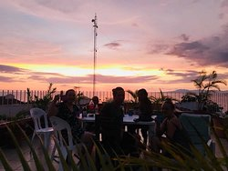 Sunset on rooftop