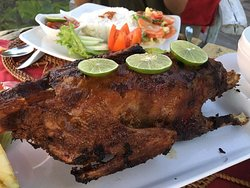 Oven-roasted duck