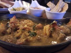 Absolutely delicious prawn curry and excellent service