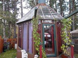 The Outdoor Gazebo, Billie's Backpackers Hostel, Fairbanks, Alaska.