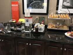 Waffle station with toppings