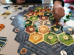 The classic  strategy game Settlers of Catan!