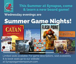 Join us for Wednesday Summer Game Nights!
