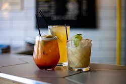A small selection of cocktails that are available.