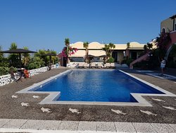 A larger than normal pool, quiet, deep, and great fun for swimming and relaxing.