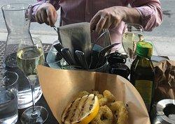 At Nyko, the lemon was far better than the calamari, unfortunately
