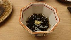 素敵なお庭の寿司カウンター