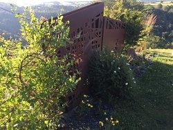 séparation terrasse, ambiance campagne moderne