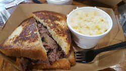 Special - Smoked Brisket Sandwich, sides were Cream Corn Cheese Grits and Collard Greens (not sh