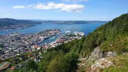 Vidden Trail from Mt. Ulriken to Mt. Fløyen