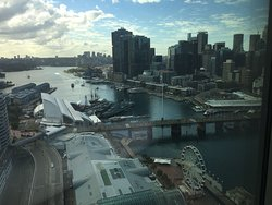 View from corner room 2605 towards Darling Harbour
