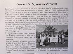 Eglise saint just à Fontaines: Explications sur le chemin de compostelle