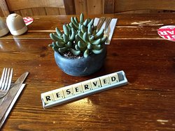 Reserved table signs