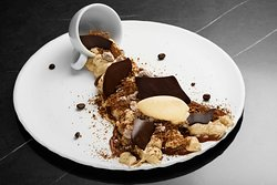 Our Caramel, chocolate and coffee dessert is sure to stir your senses!