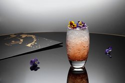 Try our verion of the traditional Bramble transformed with Cornelian cherry liqueur.