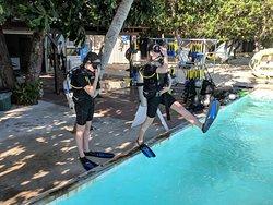 Diving training area