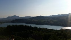 Vista lago (mattina) dalla camera gialla